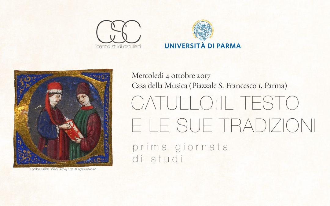 Catullo: il testo e le sue tradizioni